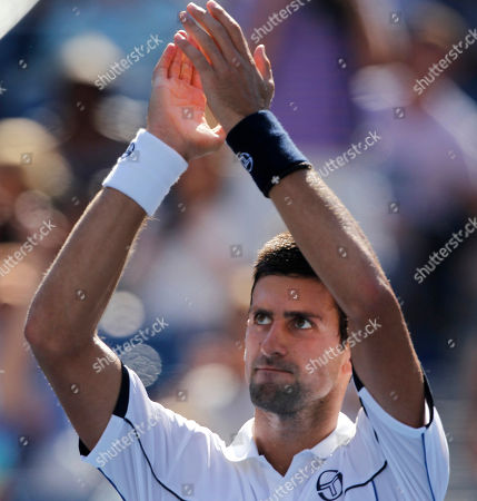 Novak Djokovic Novak Djokovic of gestures to the crowd after his match with Conor Niland of Ireland in the first round of the U.S. Open tennis tournament in New York