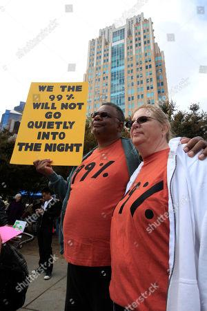 Editorial photo of Wall Street Protest, Sacramento, USA