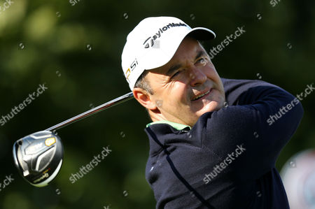 Stock Picture of Simon Khan of England in action during Day One of the British Masters played at The Grove, Chandler's Cross on 13th October 2016