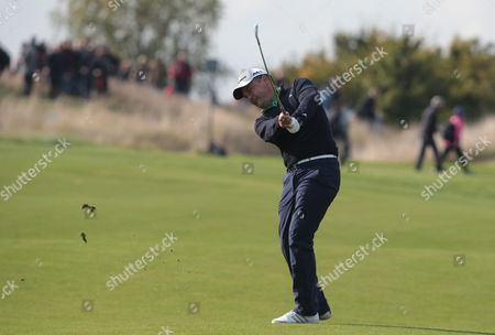 Simon Khan  (ENG) during The British Masters 2016 supported by SkySports Round One at The Grove Golf Course on October 13, 2016 in Watford, England.