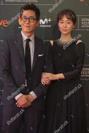 Kim Joo-hyuk, Lee You-young poses