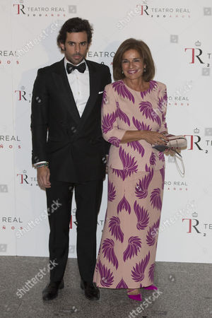 Ana Botella and her son Alonso Aznar