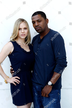 "Alexa Havins, Mekhi Phifer Actress Alexa Havins, left, and Mekhi Phifer from the Starz series ""Torchwood: Miracle Day"", poses for a portrait during Comic Con in San Diego"