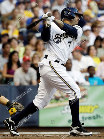 Felipe Lopez Milwaukee Brewers' Felipe Lopez hits a single during the second inning of a baseball game against the Houston Astros, in Milwaukee. Lopez was called up to replace Rickie Weeks who was injured Wednesday night