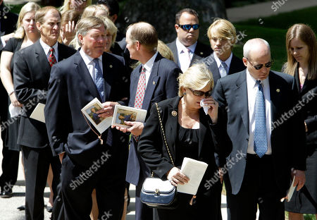 Betty Ford, Mike Ford, Jack Ford, Steve Ford, Susan Ford Bales Ford family members from left, Mike Ford, Jack Ford, Steve Ford and Susan Ford Bales walk to waiting vehicles after the funeral for former First Lady Betty Ford at the Grace Episcopal Church in Grand Rapids, Mich