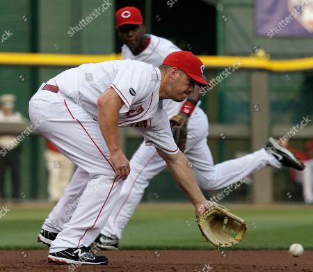 Editorial photo of Cardinals Reds Baseball, Cincinnati, USA