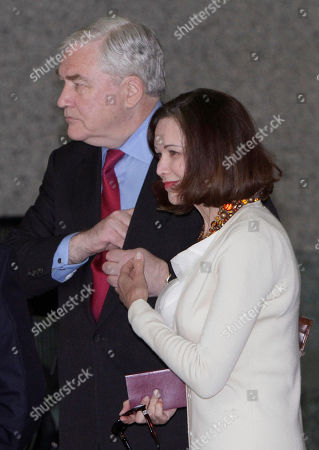 Conrad Black,Barbara Amiel Black Conrad Black arrives at Federal Courthouse with his wife Barbara Amiel, in Chicago. Black, 66, once one of the world's most powerful media moguls, will appear in court for his re-sentencing hearing on two fraud convictions, where a judge will decide whether he heads back behind bars or remains free for good