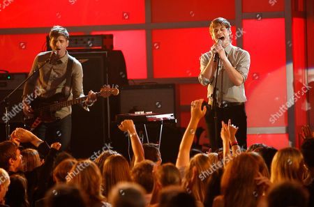 Cubbie Fink, Mark Foster Cubbie Fink, left, and Mark Foster, of music group Foster the People, perform onstage at the Do Something Awards, in Los Angeles
