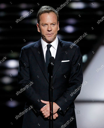 Kiefer Sutherland Actor Kiefer Sutherland presents the Arthur Ashe Award for Courage to Dewey Bozella at the ESPY Awards, in Los Angeles