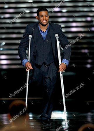 Stock Image of Anthony Robles Anthony Robles accepts the Jimmy V Award for Perseverance at the ESPY Awards, in Los Angeles