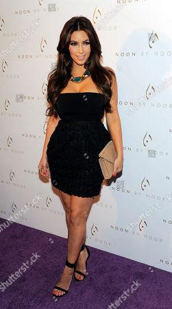 Kim Kardashian Kim Kardashian arrives at the Noon by Noor launch event in West Hollywood, Calif., . Noon by Noor is a fashion collection designed by Kingdom of Bahrain royalty Noor Rashid Al Khalifa and Haya Mohammed Al Khalifa