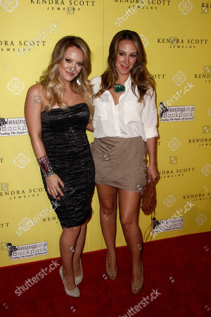 Hillary Duff, Haylie Duff Actresses Hillary Duff, left, and Haylie Duff arrive at the grand opening party for Kendra Scott Jewelry's Beverly Hills Store benefiting Blessings in a Backpack in West Hollywood, Calif