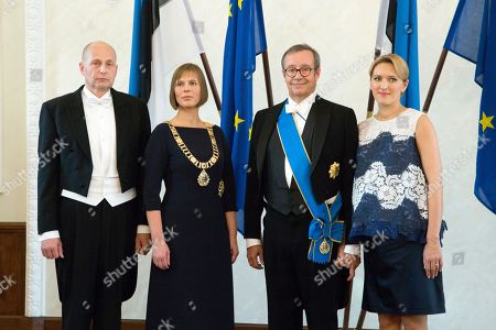 Kersti Kaljulaid, Toomas Hendrik Ilves Estonia's president-elect Kersti Kaljulaid, second left, her husband Georgi-Rene Maksimovski, left, former Estonian President Toomas Hendrik Ilves, and his wife Ieva Ilves, right, pose for a photo after the inauguration in the parliament in Tallinn, Estonia, . Estonia's president-elect Kersti Kaljulaid has been sworn in as the Baltic country's first female head of state and its fourth president since independence in 1991