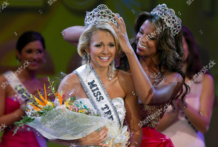 Kamie Crawford, Danielle Doty Miss Teen USA 2010 Kamie Crawford, right, places the crown on Miss Teen USA 2011 Danielle Doty, 18, of Harlingen, Texas, during the beauty pageant in Nassau, Bahamas