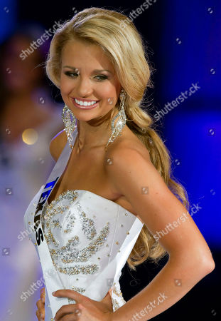 Danielle Doty Contestant Danielle Doty, 18, of Harlingen, Texas walks the stage in the evening gown segment of the Miss Teen USA 2011 beauty pageant in Nassau, Bahamas, . Doty was crowned Miss Teen USA 2011