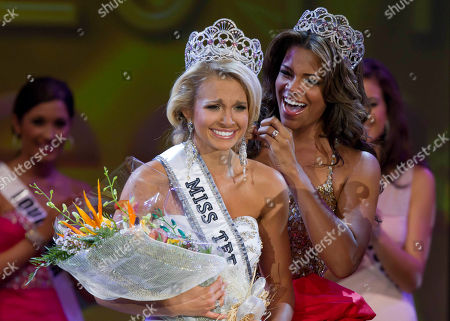 Stock Picture of Kamie Crawford, Danielle Doty Miss Teen USA 2010 Kamie Crawford, right, places the crown on Miss Teen USA 2011 Danielle Doty, 18, of Harlingen, Texas during the beauty pageant in Nassau, Bahamas