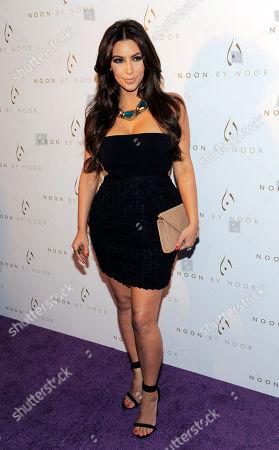 Kim Kardashian Kim Kardashian poses at the Noon by Noor launch event in West Hollywood, Calif., . Noon by Noor is a fashion collection designed by Kingdom of Bahrain royalty Noor Rashid Al Khalifa and Haya Mohammed Al Khalifa