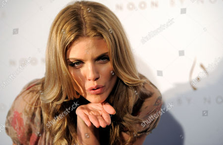 AnnaLynne McCord Actress AnnaLynne McCord blows a kiss to photographers at the Noon by Noor launch event in West Hollywood, Calif., . Noon by Noor is a fashion collection designed by Kingdom of Bahrain royalty Noor Rashid Al Khalifa and Haya Mohammed Al Khalifa