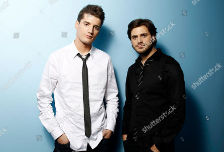 Luka Sulic, Stjepan Hauser Musicians, Luka Sulic, left, and Stjepan Hauser, from the group 2 Cellos, pose for a portrait in Los Angeles