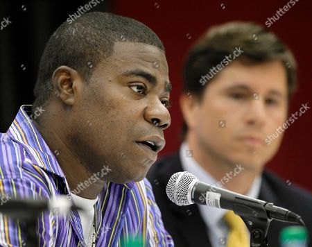 Stock Picture of Tracy Morgan, Herndon Graddick Comedian and actor Tracy Morgan speaks at a news conference, in Nashville, Tenn. Morgan apologized for anti-gay remarks he made during a performance in Nashville on June 3. At right is Herndon Graddick, senior director of programs for the Gay & Lesbian Alliance Against Defamation