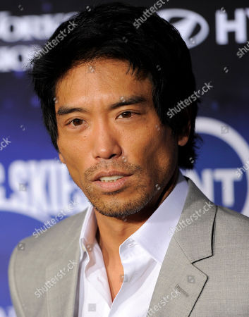 """Peter Shinkoda Peter Shinkoda, a cast member in """"Falling Skies,"""" poses at the premiere screening of the new series in West Hollywood, Calif"""