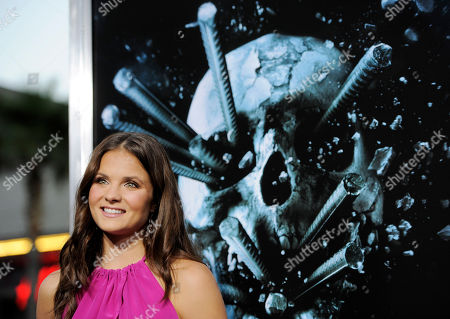 """Stock Photo of Ellen Wroe Ellen Wroe, a cast member in """"Final Destination 5,"""" poses at the premiere of the film in Los Angeles, . The film is released in theaters on August 12"""