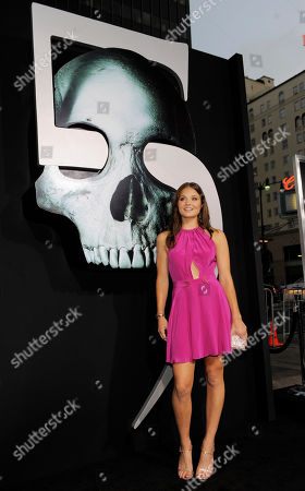 """Stock Picture of Ellen Wroe Ellen Wroe, a cast member in """"Final Destination 5,"""" poses at the premiere of the film in Los Angeles, . The film is released in theaters on August 12"""