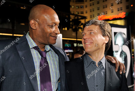 """Tony Todd, Steven Quale Tony Todd, left, a cast member in """"Final Destination 5,"""" stands with the film's director Steven Quale at the premiere of the film in Los Angeles, . The film opens in theaters on Aug. 12"""