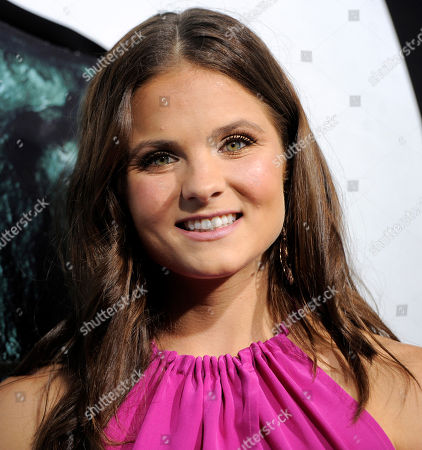 """Ellen Wroe Ellen Wroe, a cast member in """"Final Destination 5,"""" poses at the premiere of the film in Los Angeles, . The film is released in theaters on August 12"""