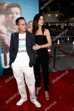 "Sandra Bullock, Jonathon Komack Martin Sandra Bullock, right, and executive producer Jonathon Komack Martin arrive at the premiere of ""The Change-Up"" in Los Angeles, . ""The Change-Up"" opens in theaters Aug. 5, 2011"