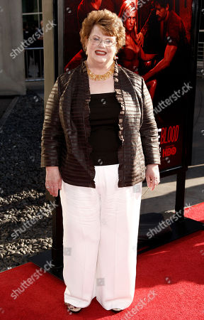 """Charlaine Harris Author Charlaine Harris arrives at the premiere for the fourth season of """"True Blood"""" in Los Angeles, . The new season of True Blood premieres June 26 on HBO"""