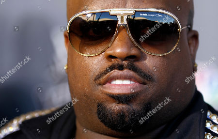 "Cee Lo Green Musician Cee Lo Green poses for photographers after finale of ""The Voice"" in Burbank, Calif., . Javier Colon was named the winner of the show during the finale"
