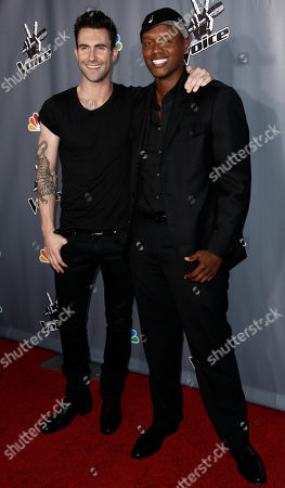 "Javier Colon, Adam Levine Javier Colon, winner of ""The Voice"", right, and Adam Levine pose together after finale of ""The Voice"" in Burbank, Calif., . Levine was Colon's coach on the show"