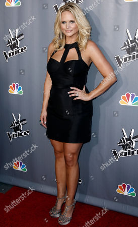 "Miranda Lambert Singer Miranda Lambert poses for photographers after finale of ""The Voice"" in Burbank, Calif., . Javier Colon was named the winner of the show during the finale"