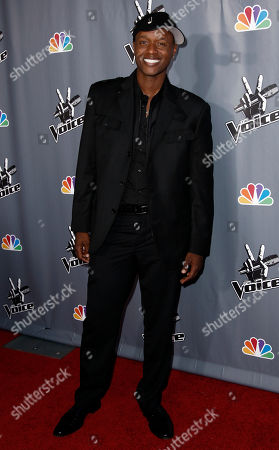 "Javier Colon Javier Colon, winner of ""The Voice"", poses for photographers after finale of ""The Voice"" in Burbank, Calif"