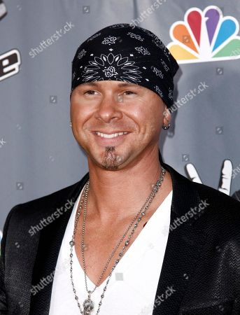 """Stock Picture of Jared Blake Jared Blake poses for photographers after finale of """"The Voice"""" in Burbank, Calif"""