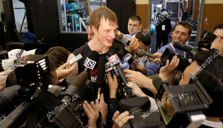 Kyle Singler Former Duke forward Kyle Singler is surrounded by media after a pre-draft basketball workout at the Portland Trail Blazers practice facility in Tualatin, Ore., Thursday, June, 16, 2011