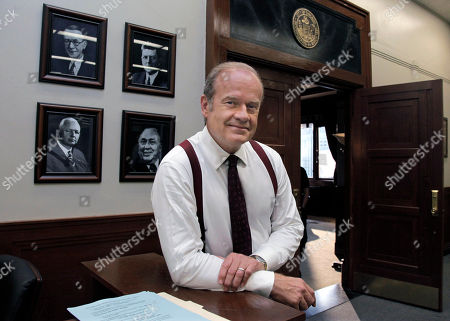 """Kelsey Grammer Actor Kelsey Grammer poses for a photo while filming """"Boss"""" in Chicago. Grammer plays Tom Kane, the powerful mayor of Chicago who is more than willing throw his political weight around. The new dramatic series debuts Friday night Oct. 21"""