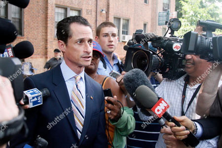 U.S. Rep. Anthony Weiner, D-N.Y., leaves his home for a press conference, in Queens, New York. Weiner has decided to resign his seat in Congress after a two-week scandal spawned by lewd and even x-rated photos the New York lawmaker took of himself and sent online to numerous women