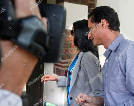 Anthony Weiner, Huma Abedin U.S. Rep. Anthony Weiner, D-N.Y., and his wife, Huma Abedin arrive at their home in Queens, N.Y., before he leaves for a press conference on . Weiner has decided to resign his seat in Congress after a two-week scandal spawned by lewd and even x-rated photos the New York lawmaker took of himself and sent online to numerous women
