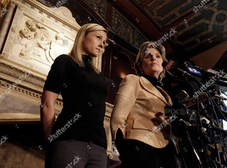 Stock Image of ALLRED Former porn actress Ginger Lee, left, and her attorney Gloria Allred listen to questions at a news conference at the Friars Club, in New York, . Lee, who said she exchanged emails and messages over Twitter with New York Rep. Anthony Weiner, said Wednesday that he asked her to lie about their online communications