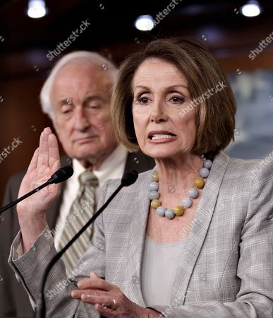 Nancy Pelosi, Sander Levin House Minority Leader Nancy Pelosi tells reporters she will not use her weekly press briefing to comment on the scandal surrounding Rep. Anthony Weiner, D-NY, during a press conference, on Capitol Hill in Washington. She is joined by Rep. Sander Levin, D-Mich