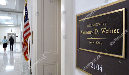 The office of departing Rep. Anthony Weiner, D-N.Y., is seen on Capitol Hill in Washington, . Weiner announced his resignation last week following revelations that he sent text messages containing sexually suggestive photos of himself to young women