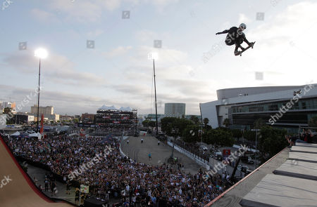 Bob Burnquist Bob Burnquist competes in the Skateboarding Big Air final at X Games in Los Angeles