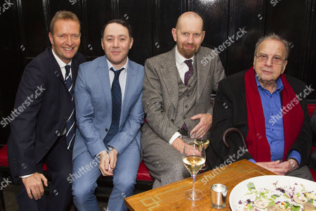 Stock Photo of Mark Goucher (Producer), Reece Shearsmith (Norman), Sean Foley (Director) and Ronald Harwood (Author)