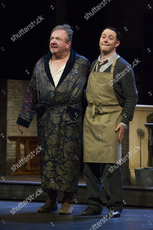Ken Stott (Sir) and Reece Shearsmith (Norman) during the curtain call