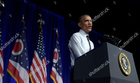 Barack Obama President Barack Obama speaks at a campaign event for the Ohio Democratic Party and for the Senate bid for former Ohio Gov. Ted Strickland at the Greater Columbus Convention Center in Columbus, Ohio
