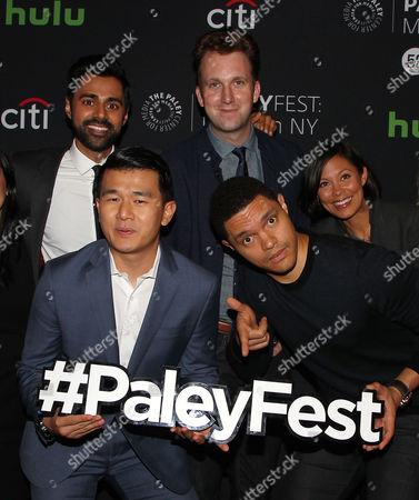 Hasan Minhaj, Jordan Klepper, Alex Wagner, Ronny Chieng, Trevor Noah
