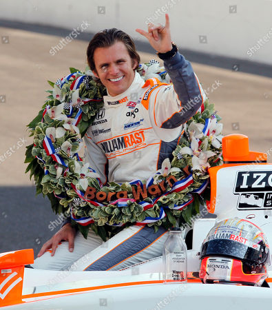 Dan Wheldon IndyCar driver Dan Wheldon, of England, signals his second win of the Indianapolis 500 auto race during the traditional winners photo on the start/finish line at the Indianapolis Motor Speedway in Indianapolis. IndyCar drivers continue to honor the memory of two-time Indianapolis 500 winner Dan Wheldon by racing in a karting event in his name. Scott Dixon, Sarah Fisher, Ed Carpenter and Sebastian Saavedra are among the drivers set for the Dan Wheldon Memorial Pro-Am Karting Challenge on Sept. 19 at New Castle (Indiana) Motorsports Park