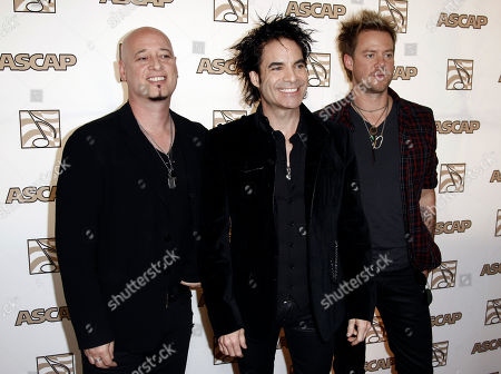 Train The band Train, from left Jimmy Stafford, Pat Monahan and Scott Underwood, arrives at the 28th Annual ASCAP Pop Music Awards in Los Angeles, . The ASCAP awards honor songwriters and publishers of the most performed songs of 2010